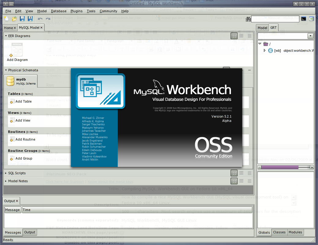 MySQL Workbench GUI on Fedora 10 x86_64