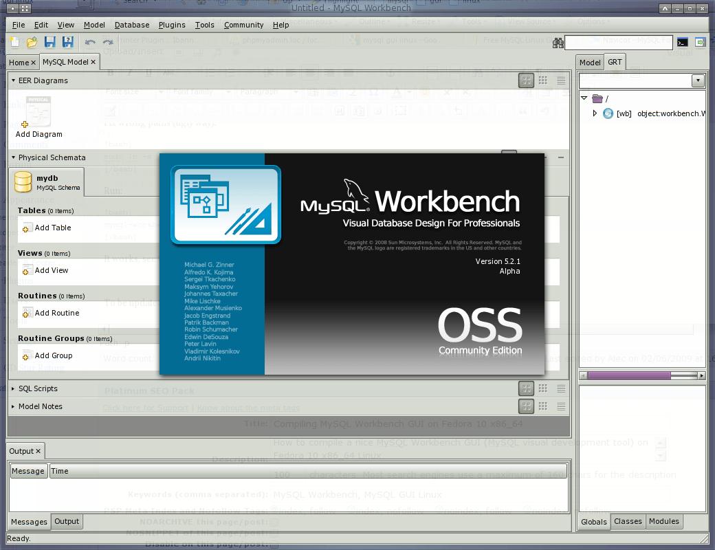 MySQL Workbench GUI on Fedora 10 x86_64