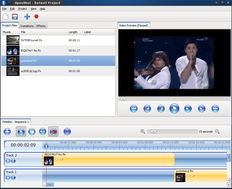Cinelerra and Openshot, Non-Linear Video Editors in Fedora 12