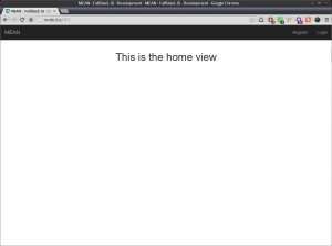 MEAN.io running on Fedora 14